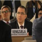 Доклад на министъра на външните работи Хорхе Ареаса по време на 39-тата сесия на Съвета по правата на човека.